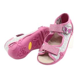 Befado gele kinderschoenen 342P018 roze grijs 4