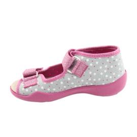 Befado gele kinderschoenen 342P018 roze grijs 2