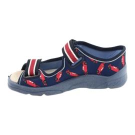 Befado kinderschoenen 869X149 rood marineblauw 2