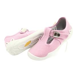 Befado kinderschoenen blanka roze 115X002 zilver 5