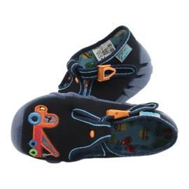 Befado kinderschoenen 110P389 marineblauw oranje 4