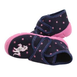 Befado kinderschoenen 538P015 marineblauw roze veelkleurig 5