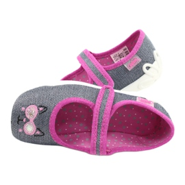Befado kinderschoenen 114X422 roze grijs 5