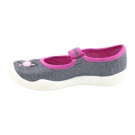 Befado kinderschoenen 114X422 roze grijs 2