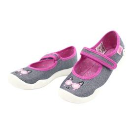 Befado kinderschoenen 114X422 roze grijs 3