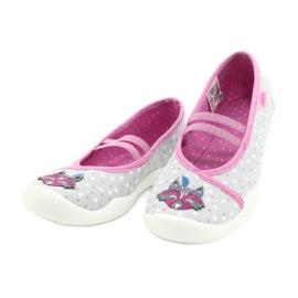 Befado kinderschoenen 116X285 roze grijs 3