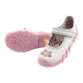 Befado kinderschoenen 109P208 roze grijs veelkleurig 4