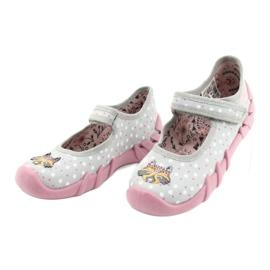 Befado kinderschoenen 109P208 roze grijs veelkleurig 3