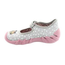 Befado kinderschoenen 109P208 roze grijs veelkleurig 2