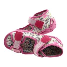 Befado kinderschoenen 242P099 roze grijs 3