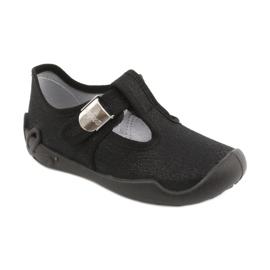 Befado kinderschoenen blanka zwart 115X006 zilver 3