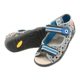 Befado gele kinderschoenen 350P017 zwart blauw grijs 4