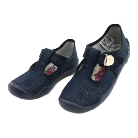 Befado kinderschoenen blanka marineblauw 115X005 zilver 4