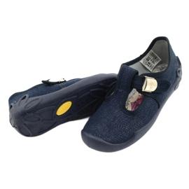 Befado kinderschoenen blanka marineblauw 115X005 zilver 5