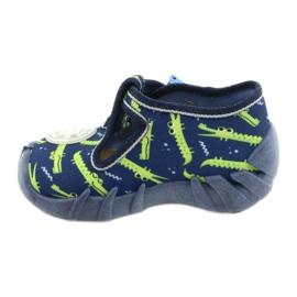 Befado kinderschoenen 110P410 marineblauw groente 2