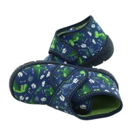 Befado kinderschoenen 538P037 wit marineblauw groente 5