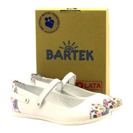 Ballerina's meisjes bloemen Bartek wit veelkleurig 4