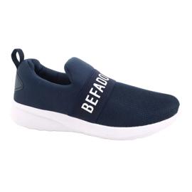 Befado jeugdschoenen 516Q082 wit marineblauw 1