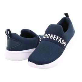 Befado jeugdschoenen 516Q082 wit marineblauw 3