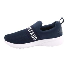 Befado jeugdschoenen 516Q082 wit marineblauw 2