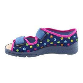 Befado kinderschoenen 869Y150 blauw roze veelkleurig 2