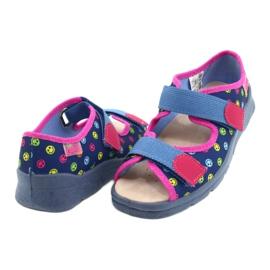 Befado kinderschoenen 869Y150 blauw roze veelkleurig 4