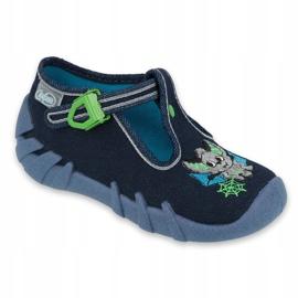 Befado kinderschoenen 110P388 marineblauw groente 1