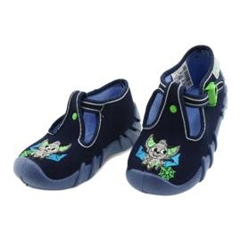 Befado kinderschoenen 110P388 marineblauw groente 3