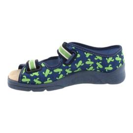 Befado kinderschoenen 869Y147 blauw groente 2