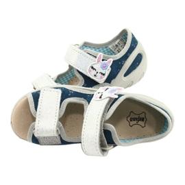 Befado kinderschoenen pu 065X154 marineblauw grijs veelkleurig 5