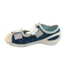 Befado kinderschoenen pu 065X154 marineblauw grijs veelkleurig 2