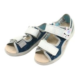 Befado kinderschoenen pu 065X154 marineblauw grijs veelkleurig 3