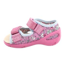 Befado kinderschoenen pu 065P147 roze veelkleurig 2