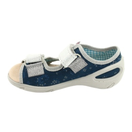 Befado kinderschoenen pu 065P154 marineblauw blauw grijs veelkleurig 2