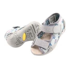 Befado gele kinderschoenen 342P025 blauw grijs 4
