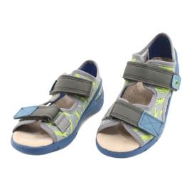 Befado kinderschoenen pu 065X159 blauw grijs veelkleurig 3