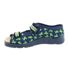 Befado kinderschoenen 869X147 blauw groente 2