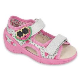 Befado preventieve kindersandalen 065X148 roze zilver grijs 1