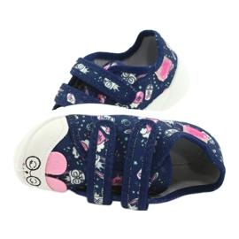 Befado kinderschoenen 907P127 marineblauw roze 5