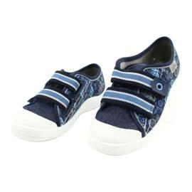 Befado kinderschoenen 672X073 marineblauw blauw grijs 3