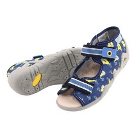 Befado gele kinderschoenen 350P020 blauw 3