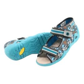 Befado gele kinderschoenen 350P021 blauw grijs 4