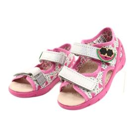 Befado sandalen kinderschoenen 065P148 roze zilver grijs 2