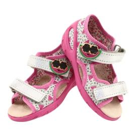 Befado sandalen kinderschoenen 065P148 roze zilver grijs 4