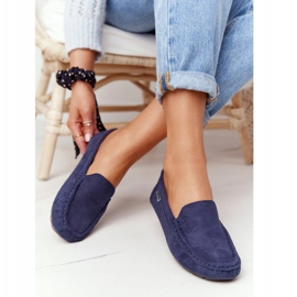 PH1 Suède loafers voor dames, marineblauw San Marino 3