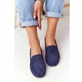 PH1 Suède loafers voor dames, marineblauw San Marino 2