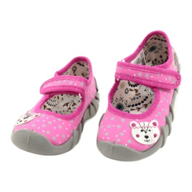 Befado kinderschoenen 109P209 roze grijs 2