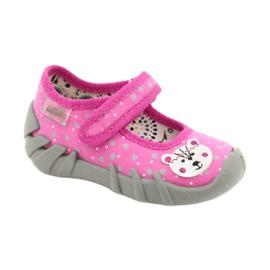Befado kinderschoenen 109P209 roze grijs 1