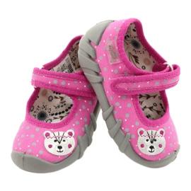 Befado kinderschoenen 109P209 roze grijs 4