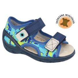 Befado kinderschoenen pu 065X156 marineblauw blauw groente 1